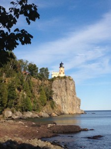 The Split Rock Lighthouse is perched high above Lake Superior. (Cheryl Welch | Travel Beat Magazine)