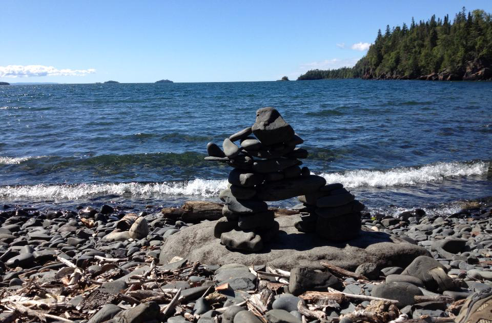 Hiking the Sleeping Giant Provincial Park is a practice in solitude. There are no cell phone signals here, just the lapping of waves and sunshine. (Kevin Kaiser | Travel Beat Magazine)
