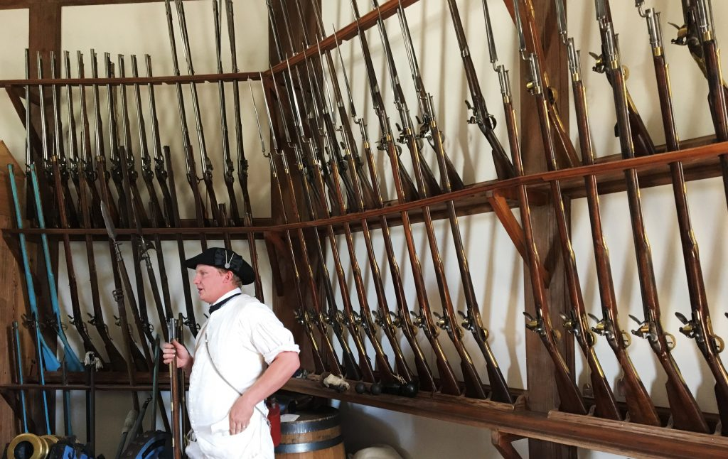 Get into the patriot spirit by learning about the weaponry of the day. (Kevin Kaiser | Travel Beat Magazine)