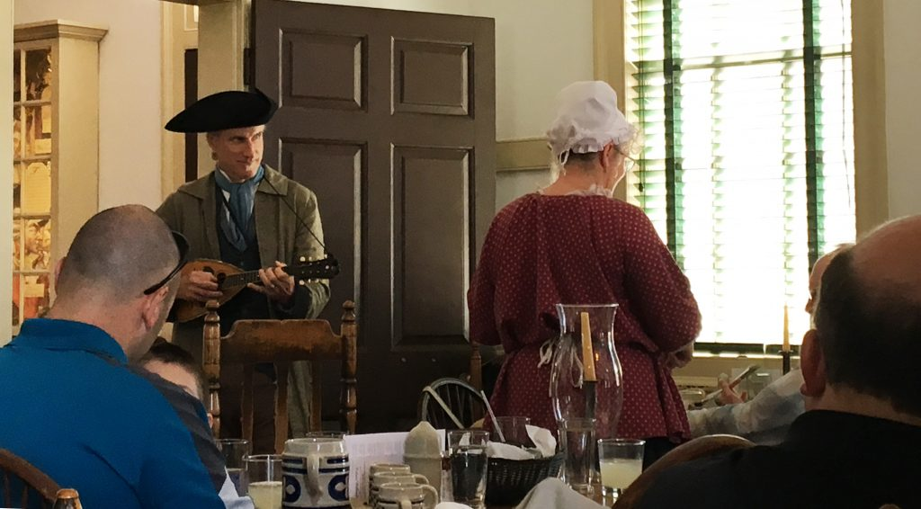 Enjoy a Colonial experience by eating lunch or dinner at one of the several taverns in Colonial Williamsburg. (Kevin Kaiser | Travel Beat Magazine)