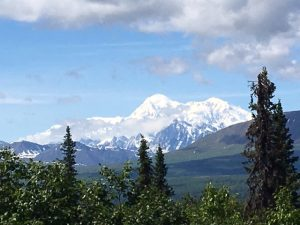 Denali shows her peak the next day for lots of visitors' enjoyment. (Cheryl Welch | Travel Beat)