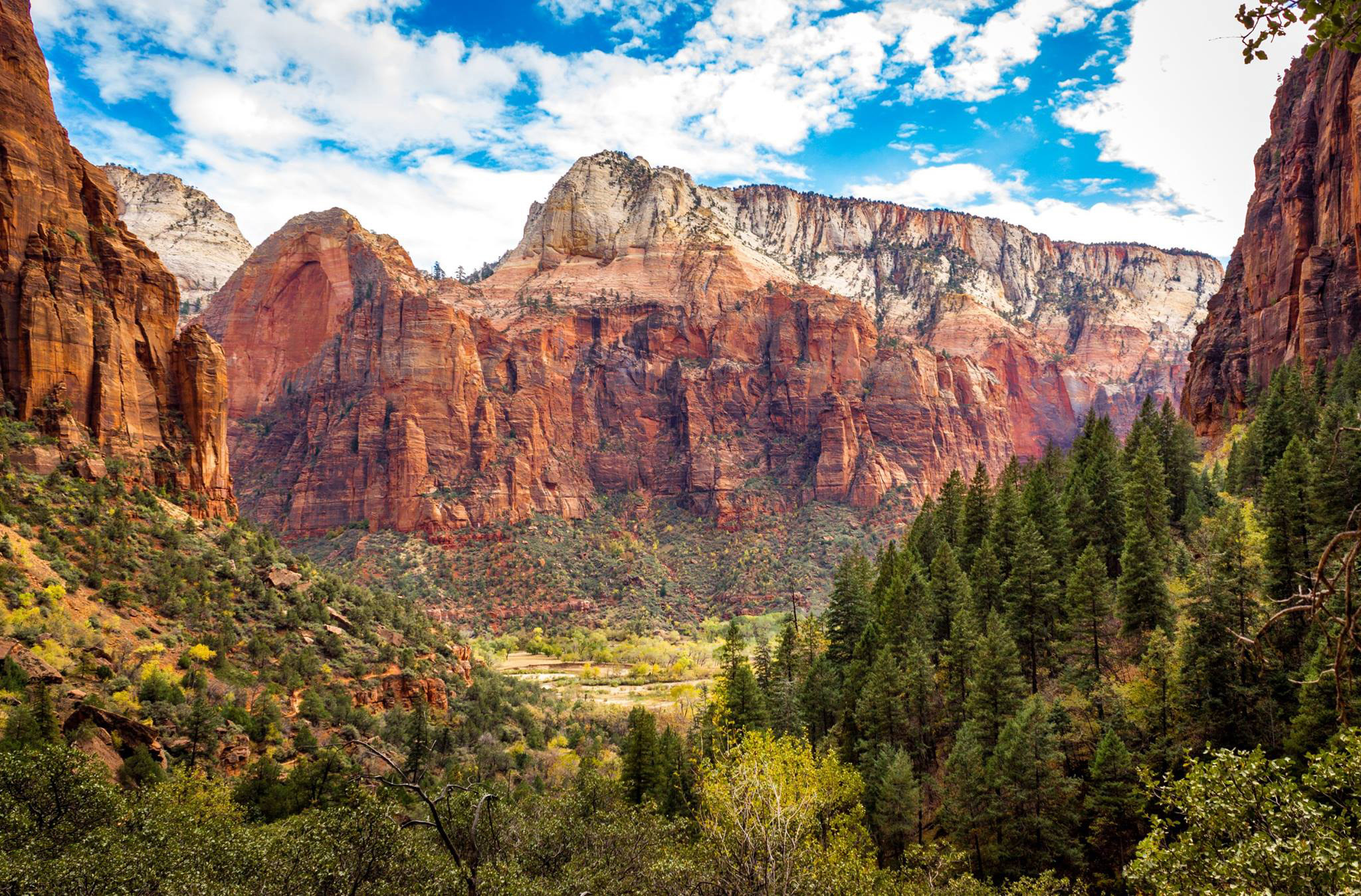 Zion National Park is majestic as shown from the trail to the Upper Emerald Pool. (Kevin Kaiser | Travel Beat)