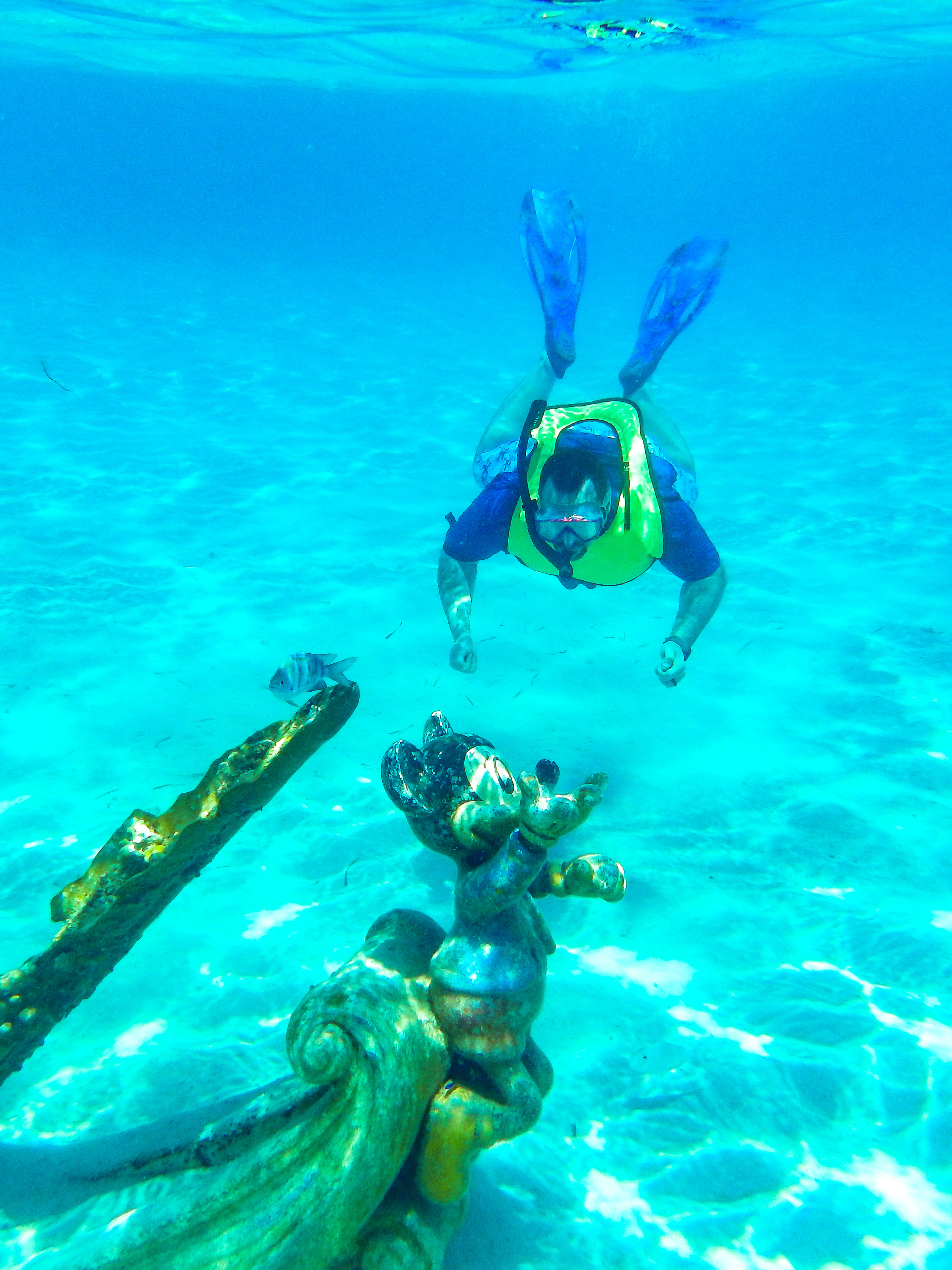 Go snorkeling with Mickey at Castaway Cay, one of Disney Cruise Line's frequent stops in the Bahamas. (Cheryl Welch | Travel Beat Magazine)