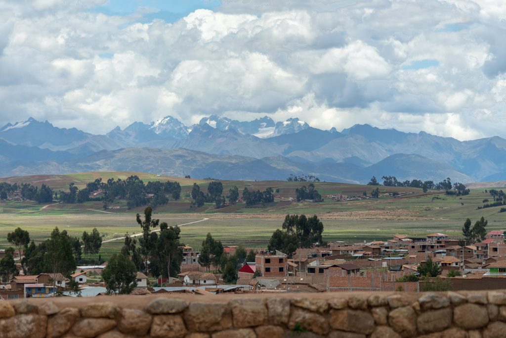 The Andes Mountains form a gorgeous backdrop to the countryside scenery. Cultural treasures abound while trekking to Machu Picchu. (Kevin Kaiser | Travel Beat Magazine)