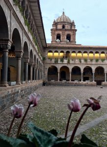 Cusco's architecture of stone carvings, archways and plazas is built upon Incan ruins. (Kevin Kaiser | Travel Beat Magazine)